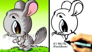 Как нарисовать Шиншиллу в стиле Chibi карандашом видео урок