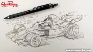Как нарисовать спортивный автомобиль формулы 1 карандашом видео урок
