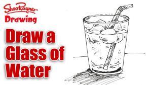 Видео как нарисовать стакан воды со льдом карандашом
