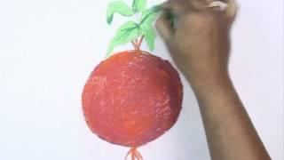 Как легко нарисовать свёклу карандашом видеоурок