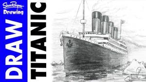 Видео как нарисовать Титаник карандашом на бумаге