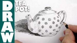 Видео как нарисовать заварной чайник карандашом