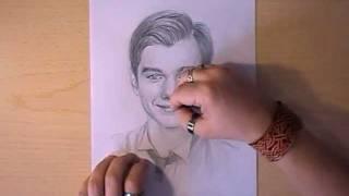 Как рисовать портрет Chris Colfer видео урок