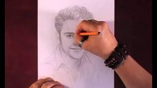 Как нарисовать портрет Christopher Uckermann видео урок