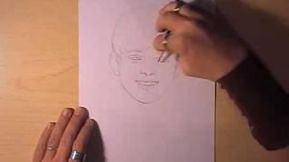 Как рисовать портрет Greyson Chance видео урок