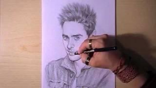 Как рисовать портрет Jared Leto видео урок