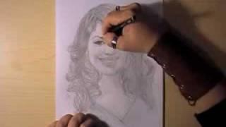 Как рисовать портрет Sara Ramirez видео урок