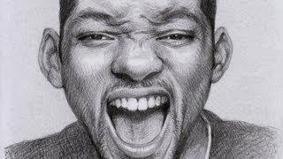 Как рисовать портрет Уилл Смита(Will Smith) видео урок