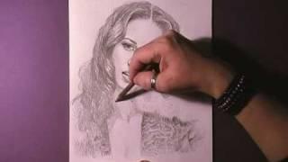 Как рисовать портрет Alicia Keys видео урок