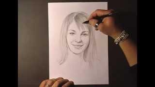 Как рисовать портрет Hayley Williams видео урок