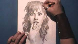 Как рисовать портрет Katy Perry видео урок