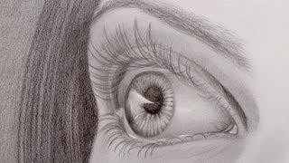 Как рисовать живой глаз видео