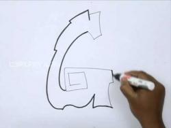 Видео как рисовать граффити букву G карандашом