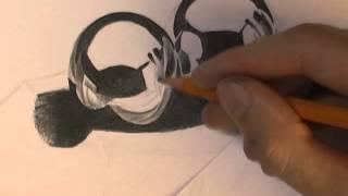 Как нарисовать металлические шары видео урок