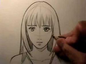 Видео как рисовать реалистичное манго лицо девушки