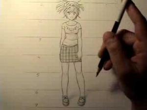 Видео как рисовать женские пропорции тела в манге