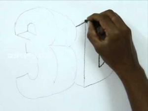 Видео урок как нарисовать 3d рисунок на бумаге карандашом