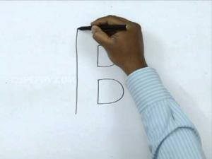 Видео урок как нарисовать букву B в 3d карандашом