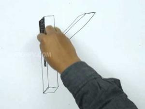 Видео урок как нарисовать букву K в 3d карандашом