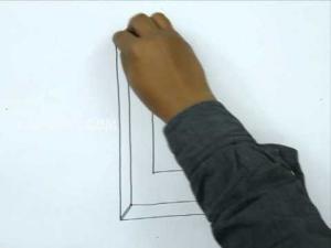 Видео урок как нарисовать букву L в 3d карандашом