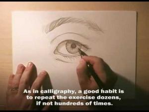 Видео урок как нарисовать глаз карандашом на бумаге