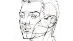 Видео урок как нарисовать голову человека под любым углом