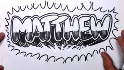 Урок как нарисовать на бумаге слово