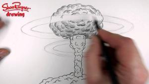 Видео урок как нарисовать ядерный взрыв карандашом