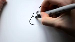 Видео урок как нарисовать Капкейк с вишенкой карандашом