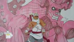 Видео урок: как нарисовать Кира Би и Хачиби но Коромо из Наруто