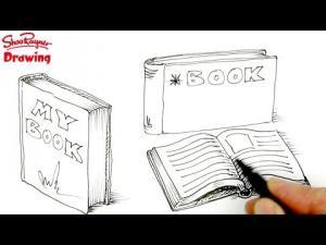 Видео урок как нарисовать книги карандашом на бумаге