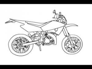 Видео урок как нарисовать мотоцикл