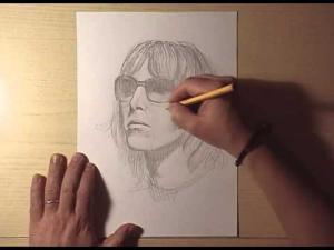 Видео урок как нарисовать портрет Лиам Галлахер