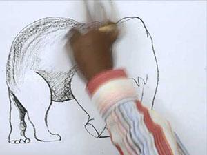 Видео урок как нарисовать Слона карандашом на бумаге