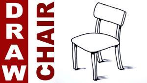 Видео урок как нарисовать стул карандашом на бумаге