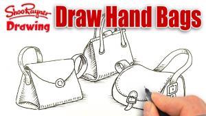 Видео урок как нарисовать сумки карандашом