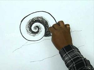 Видео урок как нарисовать улитку на ветке карандашом на бумаге