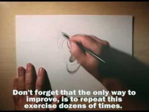 Видео урок как нарисовать уши карандашом на бумаге