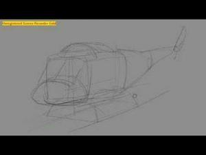Видео урок как нарисовать вертолет на бумаге