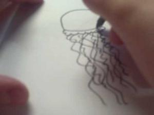 Видео урок как просто нарисовать медузу ребенку