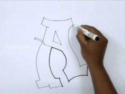 Видео урок как рисовать граффити букву A карандашом