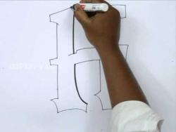 Видео урок как рисовать граффити букву H карандашом