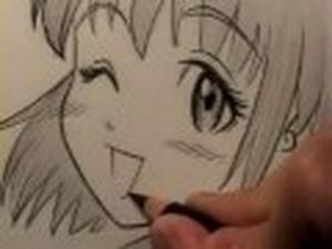 Видео урок как рисовать рты в манге карандашом