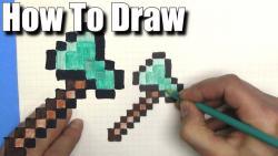 Ввидео урок: как нарисовать Топор из Minecraft по клеткам