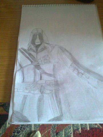 Как нарисовать ассасина карандашом