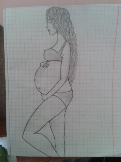 Беременная девушка для срисовки 46