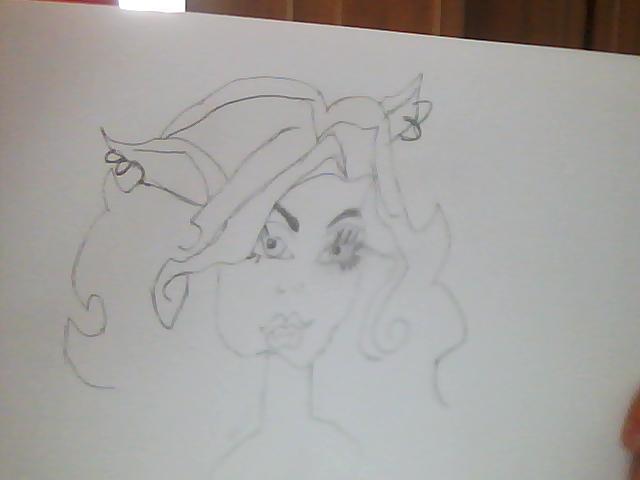 Как нарисовать клодин вульф из монстр