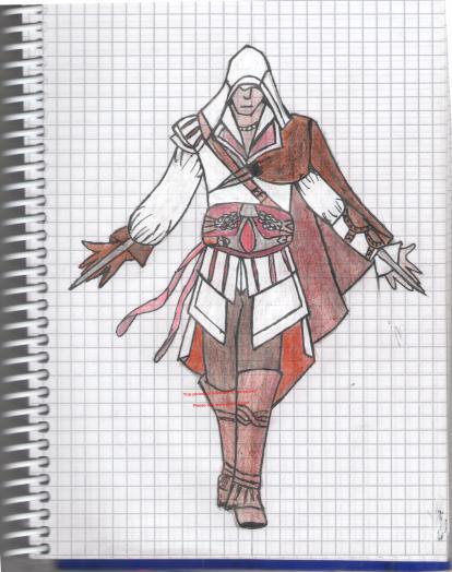 как рисовать ассасина карандашом: