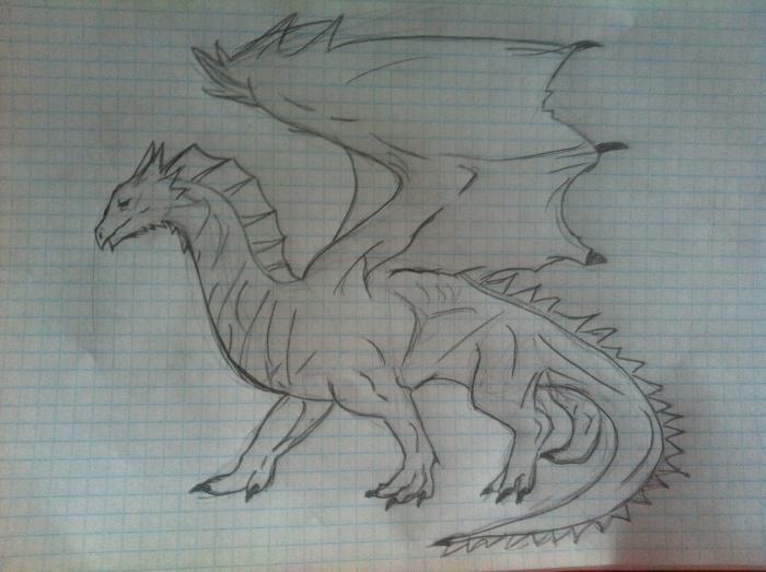 Как рисовать дракона карандашом поэтапно.