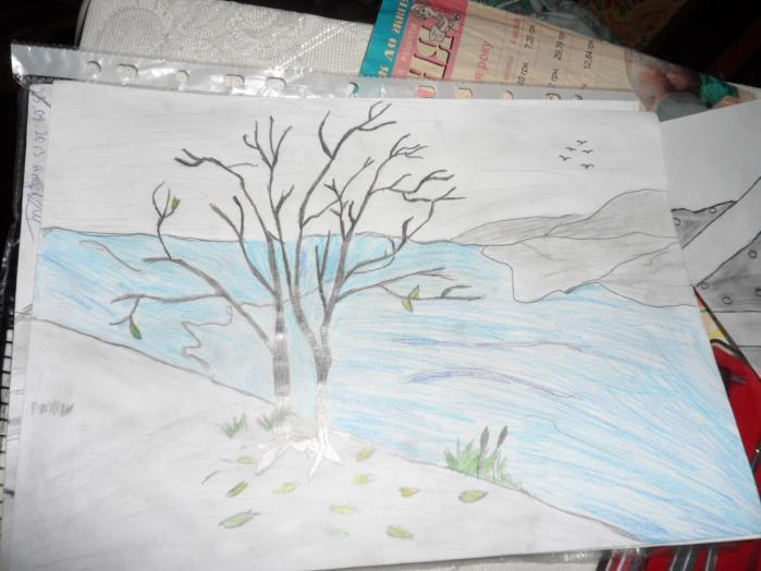 Рисуем карандашами природу поэтапно карандашом 2